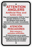 Fishing Regs Sign
